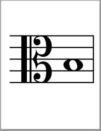 Alto-Viola Clef--Big Drill Cards