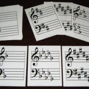 Full Page Key Signature Drill Cards