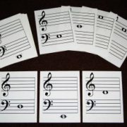 Full Page Bass & Treble Clef Drill Cards