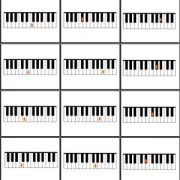 Full Page Piano Notes Drill Cards