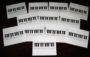 Flash Cards--Piano Notes