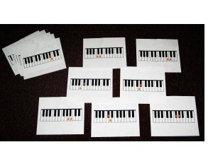 Flash Cards--Piano Whole and Half Steps