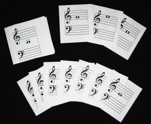 Flash Cards--Treble Clef Notes